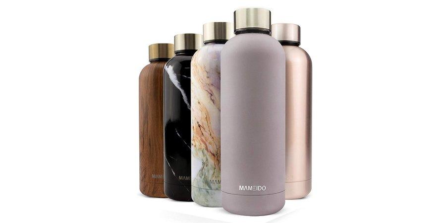 Comprar botella de acero inoxidabl Mameido en Amazon