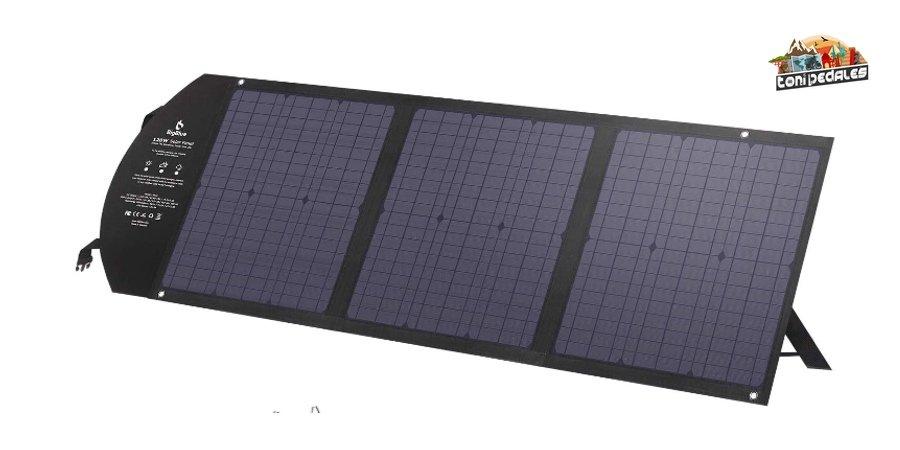 Comprar cargador solar potente BigBlue de 120W en Amazon