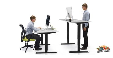 Comprar escritorio elevable eléctrico Aimezo en Amazon
