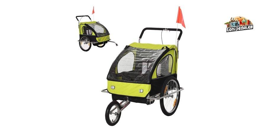 Comprar remolque de bicicleta para niños HOMCOM 2 en 1