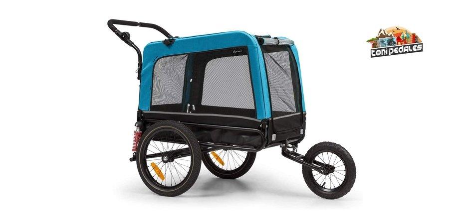 Comprar remolque para perro KLAR FIT Klarsfit Husky 2 en 1, remolques para bicicletas electricas